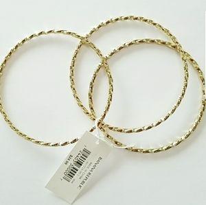 Banana Republic Spiral Bangle Bracelet Set